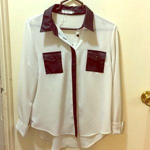 Women Business casual button-down shirt